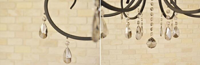 ルイーズ6灯シャンデリア装飾