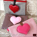 Mother and child Handbook case POUCHE (pace) heart W pouch/s size