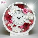 Credit & table clock of the プリザーブドフラワー Orchis graminifolia flower