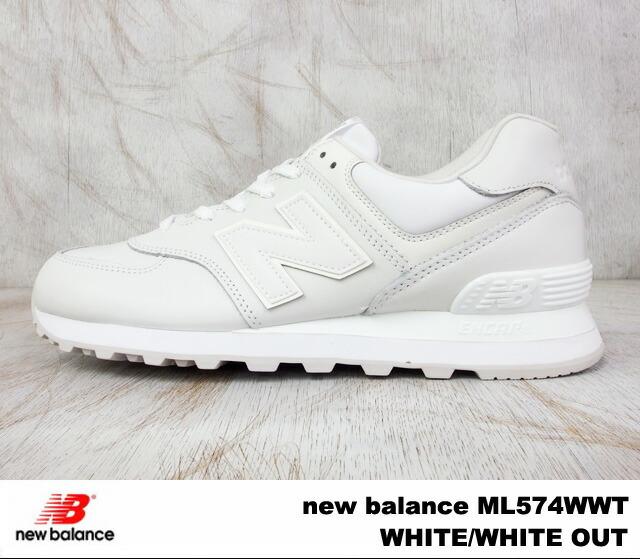 new balance ml 574 white