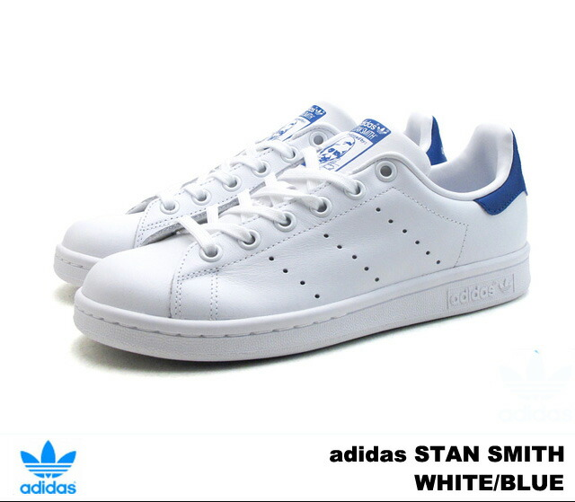 adidas stan smith blue white