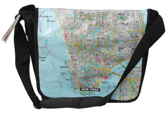 NYマップ メッセンジャーバッグ ラージ mapbag