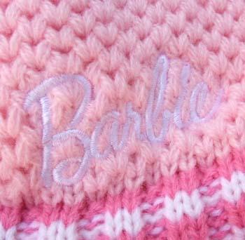 バービー Barbie キッズニットキャップ フラワー