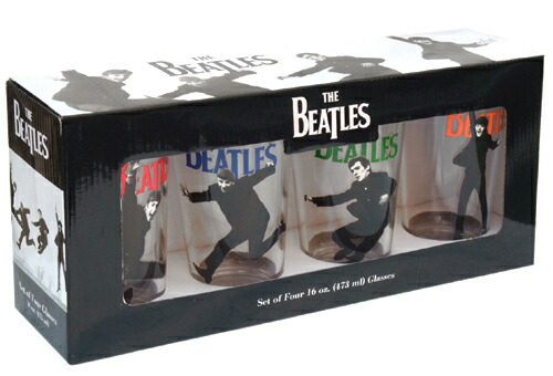 THE BEATLES ビートルズ 4pkグラスセット A Hard Day's Night