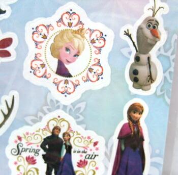 アナと雪の女王 4シートステッカー