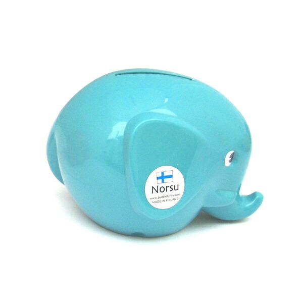 Norsu  (エレファント貯金箱)ターコイズ