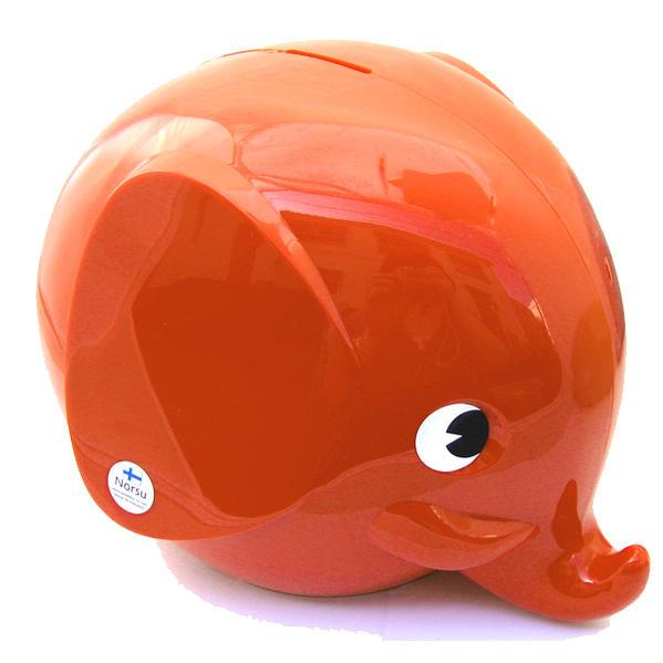 Norsu  (エレファント貯金箱)L ディープオレンジ