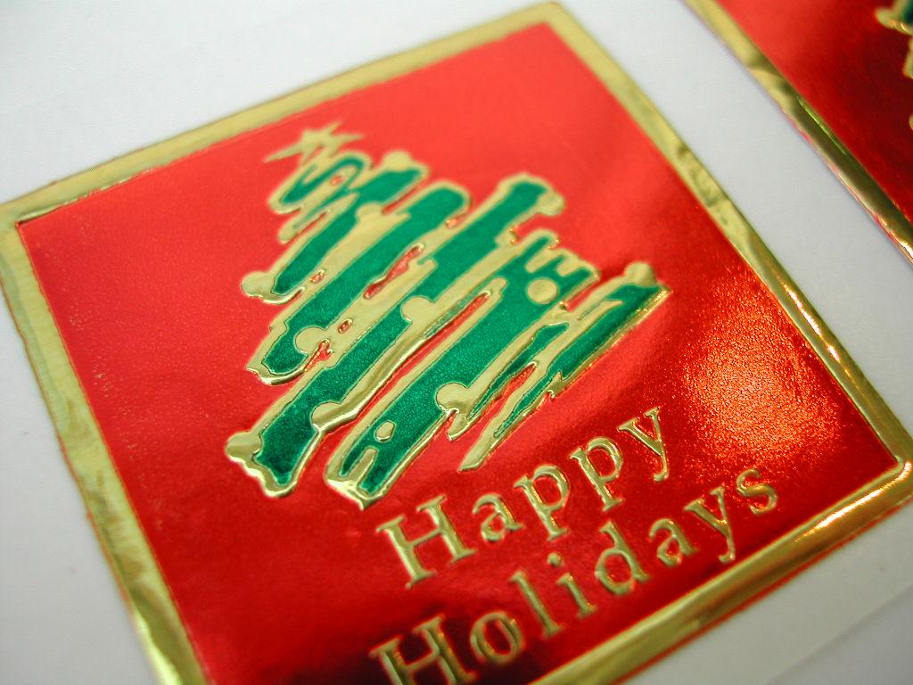 フォイルステッカー Happy Holidays