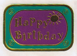 ホイルステッカー Happy Birthday ゴールド