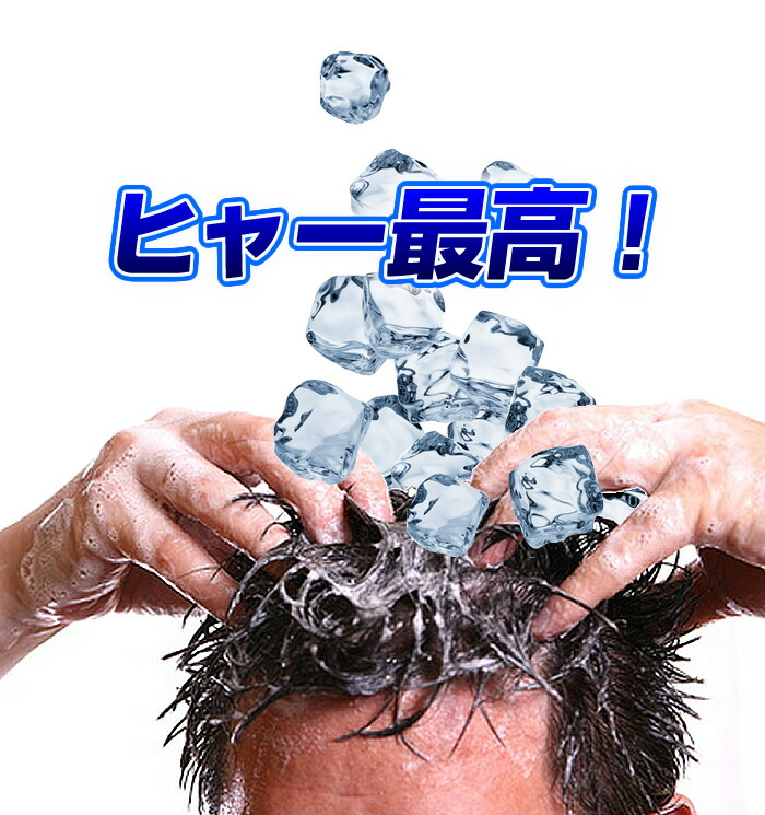 氷で頭を洗っているような爽快感フェロチカクールシャンプー