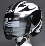 sj-9ジェットヘルメット ホワイトスモーク装着時