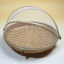 Bamboo hood stocker (fruit basket) round L made from a Bali