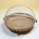 Bamboo hood stocker (fruit basket) round M made from a Bali