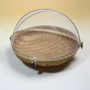 Bamboo hood stocker (fruit basket) round S made from a Bali