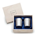 Polishing Meister steel stainless steel Cup 340 ml (wooden box and 2 combined) beer glass / tumbler / mug fs3gm