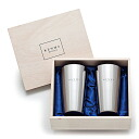 Polishing Meister ステンレスビア tumbler 400 ml (wooden box and 2 combined) beer glass/tumbler/mug