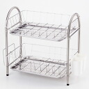 -Stainless steel double drainer rack
