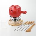 K+dep( ケデップ) Cook Bakery fondue set 13.5cm, red (KY-706) fondue fondue pot fondue set