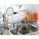 Stainless steel sink on a draining rack 8-piece set fs3gm's