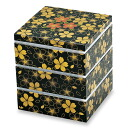 Three hors d'oeuvres nitpicking flower dance black (small) fashionable lunch box lunchbox