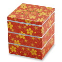 Three hors nest floral dance red (small) fashionable lunch box lunchbox