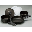 Handle detachable marble coat IH support pan and skillet 7-piece set fs3gm