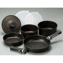 Handle detachable marble coat IH for hotpot, frying pan 9-piece set fs3gm