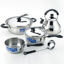 Pan, four points of kettle sets (with the ladle) for IH