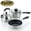 New life frying pan, pan, three points of kettle sets for IH