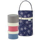 THERMOS 3-stage cold insulation lunch box 560ml(Pop blue)(DJG-551/POB)