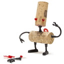 The Cork is in the fashionable cute robot gets a makeover! wine Cork decoration and wine goods / Cork-robot Corker-Luke wine gadgets
