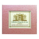Wine label memory binder (leaf pink)