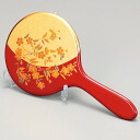 With the Kanazawa foil hand mirror, stands celebrate celebration / finding employment (red of the flower) on the / coming-of-age ceremony / wedding present / baby gift / sixtieth birthday on a lacquer work birthday