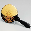 With the Kanazawa foil hand mirror, stands celebrate celebration / finding employment (black of the flower) on the / coming-of-age ceremony / wedding present / baby gift / sixtieth birthday on a lacquer work birthday