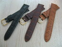 High-quality calf (cowhide) clock band mat 型押 men size