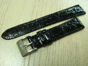Best buy set! Crocodile leather belt (new) KING SEIKO buckle with black