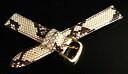 Luxury Python leather (Python) Watch belt 10 mm-18 mm
