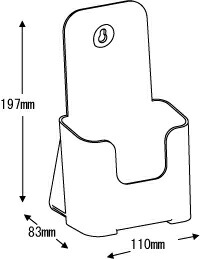 カタログケース、A4、三つ折り、1段、CR78501