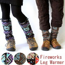 It is motorcycle protection against the cold thermal (12fw) in Fire Works pattern boa leg warmer men long lady's bicycle leg warmer mountain climbing mountain girl fashion mountain climbing festival leg warmer leg warmers new work snow handle of winter