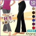 《 summary percent coupon 》★ cotton stretch pants (V front )★ ヨガウェアヨガパンツロングパンツエアロビクスウェアフィットネスウェアレディースベリーダンスサルサズンバピラティス magazine publication looper:)