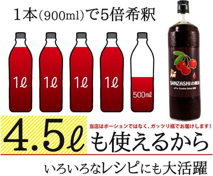 ポーションではなく瓶でお届け!1本(900ml)で5倍希釈4.5Lも使える