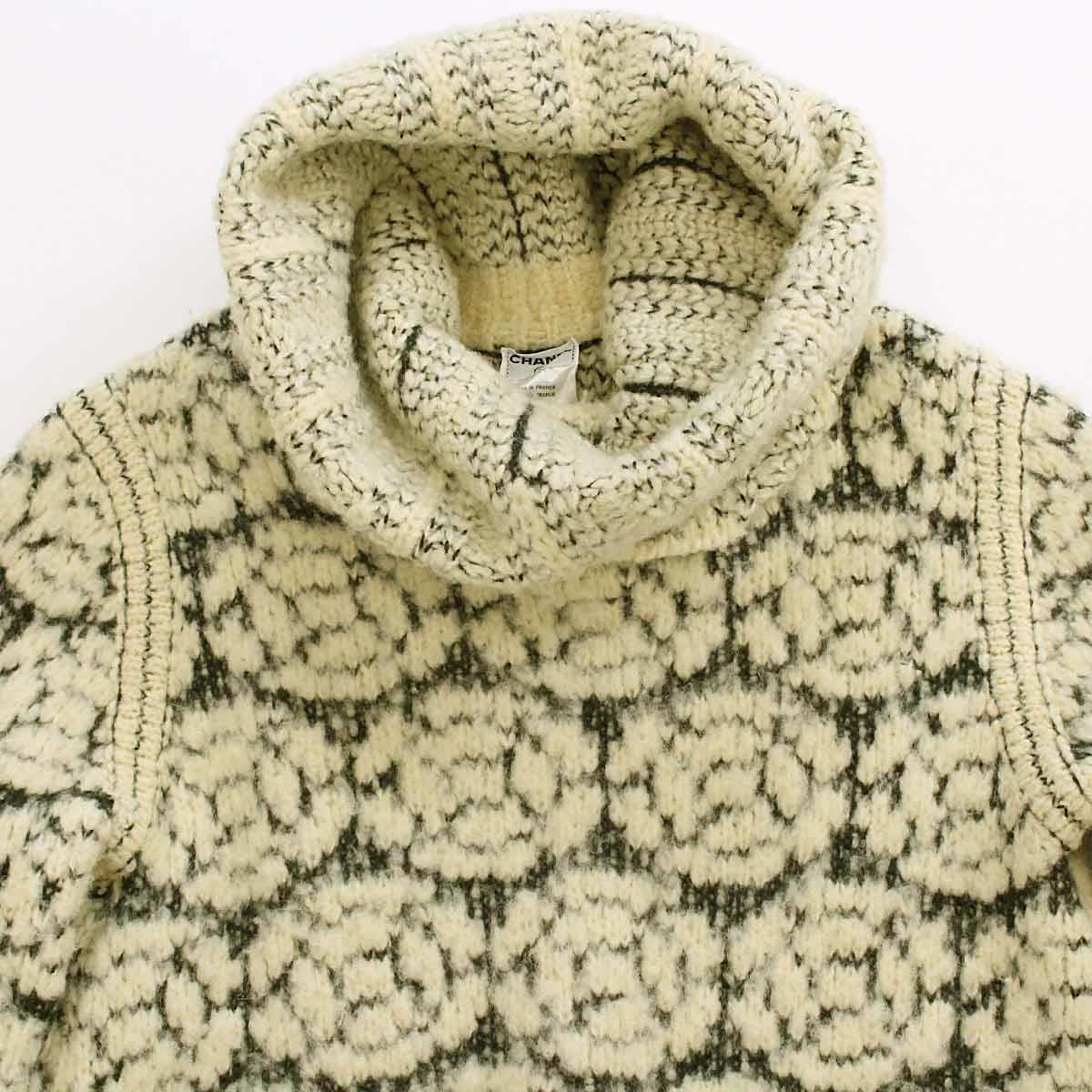 Knitting Pattern For Tortoise Jumper : Purpose Inc Rakuten Global Market: Chanel CHANEL turtle knit sweater patter...