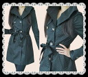 ★Rich luster waterdrop good quality coat 05P02Mar14 where the design of the collar is very wonderful