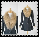 Coat 05P02Mar14 where the design of a gorgeous raccoon fur hem is very wonderful