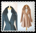 Wool coat 05P13Dec13 where the line like the Fox fur woman that the design of the collar is very wonderful is very clean