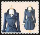 Collar design is a lovely corsage with polka dot flircourt parties adult invited wedding dresses spring coat ★