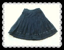 Embroidery race pleated skirt 10P30Nov13