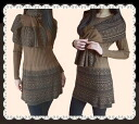 ★ 2 piece set ★ exotic pattern lovely design muffler & tunic set!