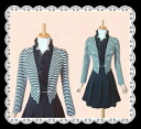★One piece with border line tuck made with one piece of jacket-like design which is elegant feminine