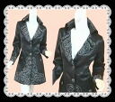 ★The light overcoat that the embroidery that is luxurious to high-quality luster cloth is wonderful